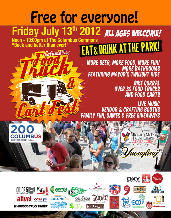 Columbus Food Truck And Cart Fest Friday July 13 2012